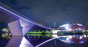 Torrens footbridge at night